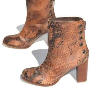 Musse & Cloud Heeled Bootie Size US 7 EUR 38